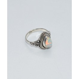 925 SOLID STERLING SILVER ETHIOPIAN OPAL RING- 5 US