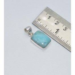 925 SOLID STERLING SILVER BLUE LARIMAR PENDANT- 1.1 INCH
