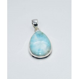 925 SOLID STERLING SILVER BLUE LARIMAR PENDANT- 1.6 INCH