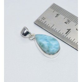 925 SOLID STERLING SILVER BLUE LARIMAR PENDANT- 1.2 INCH