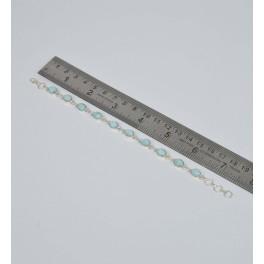 925 SOLID STERLING SILVER BLUE LARIMAR BRACELET- 7.7 INCH