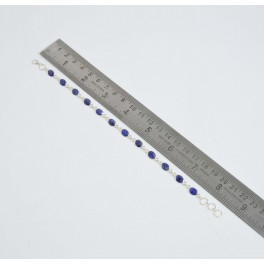925 SOLID STERLING SILVER BLUE SAPPHIRE BRACELET- 8.5 INCH