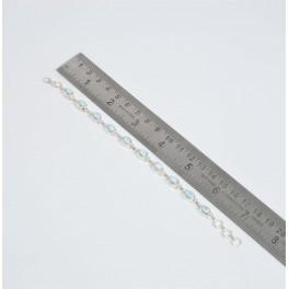 925 SOLID STERLING SILVER BLUE LARIMAR BRACELET- 7.5 INCH