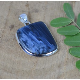 925 SOLID STERLING SILVER PIETERSITE PENDANT-1.8 INCH