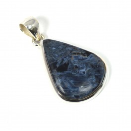 925 SOLID STERLING SILVER PIETERSITE PENDANT-1.5 INCH