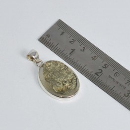 925 SOLID STERLING SILVER PYRITE DRUZY PENDANT 1.5 INCH