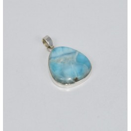 925 SOLID STERLING SILVER BLUE LARIMAR PENDANT- 2 INCH