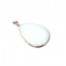 925 SOLID STERLING SILVER MILKY OPALITE PENDANT -2.6 INCH