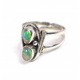 925 SOLID STERLING SILVER NATURAL NATURAL ETHIOPIAN OPAL RING-6 TO 9 US