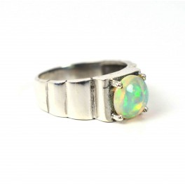 925 SOLID STERLING SILVER NATURAL ETHIOPIAN OPAL RING-7 TO 9 US